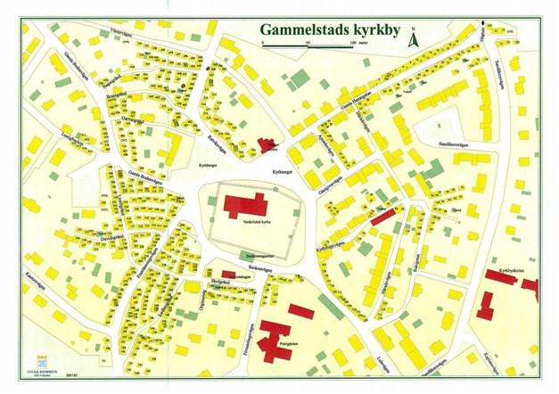 Karta över Kyrkbyn