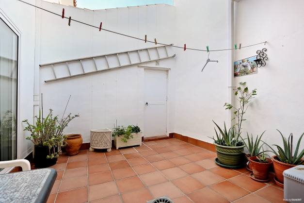 Patio med förråd om ca 7 m2
