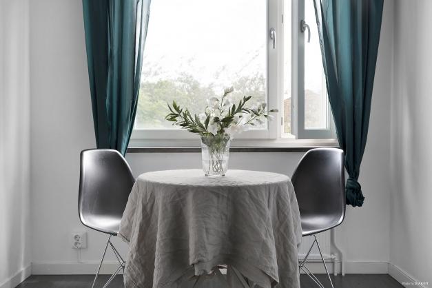 Matplats i kök med plats för 4 sittplatser