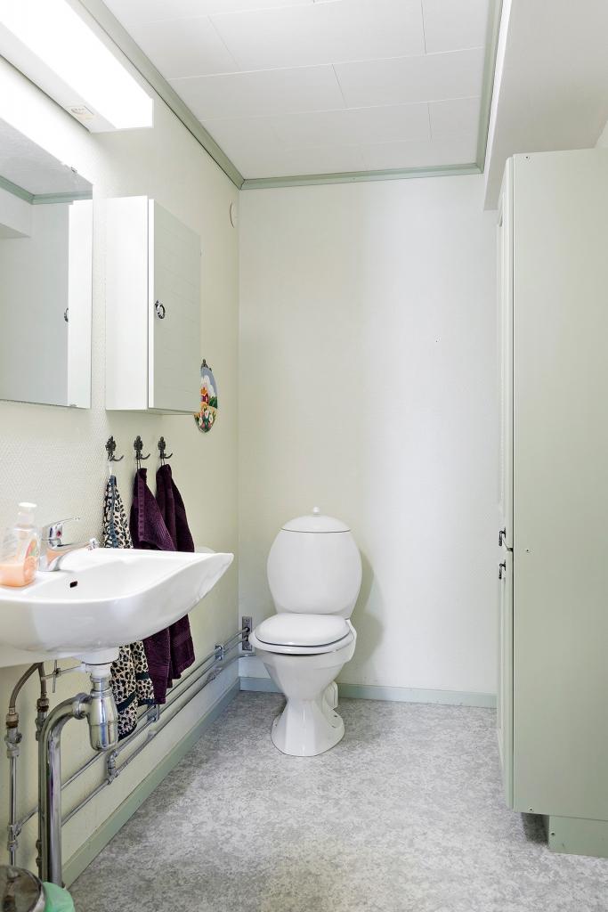 Toalett suterrängplan