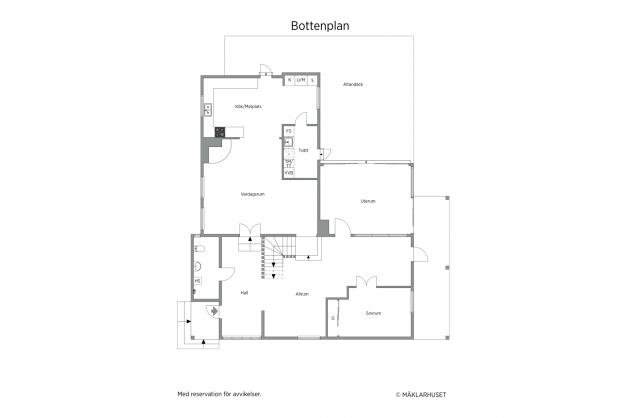 Planritning bottenvåning 2D