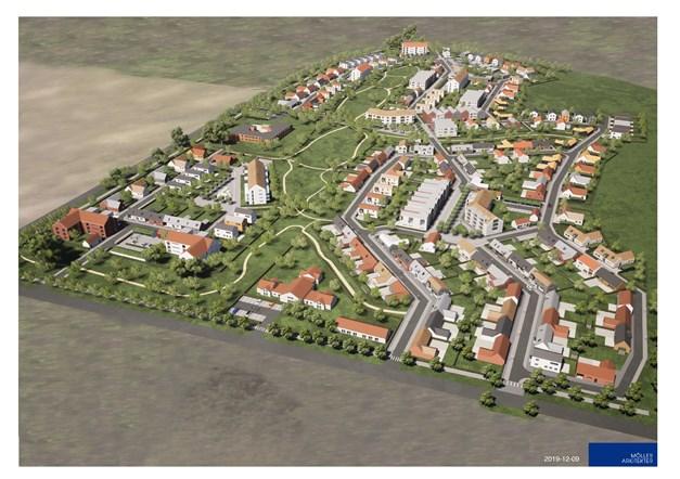 Den unika platsen i Åhus möjliggör ett bostadsområde med totalt 300 nya bostäder