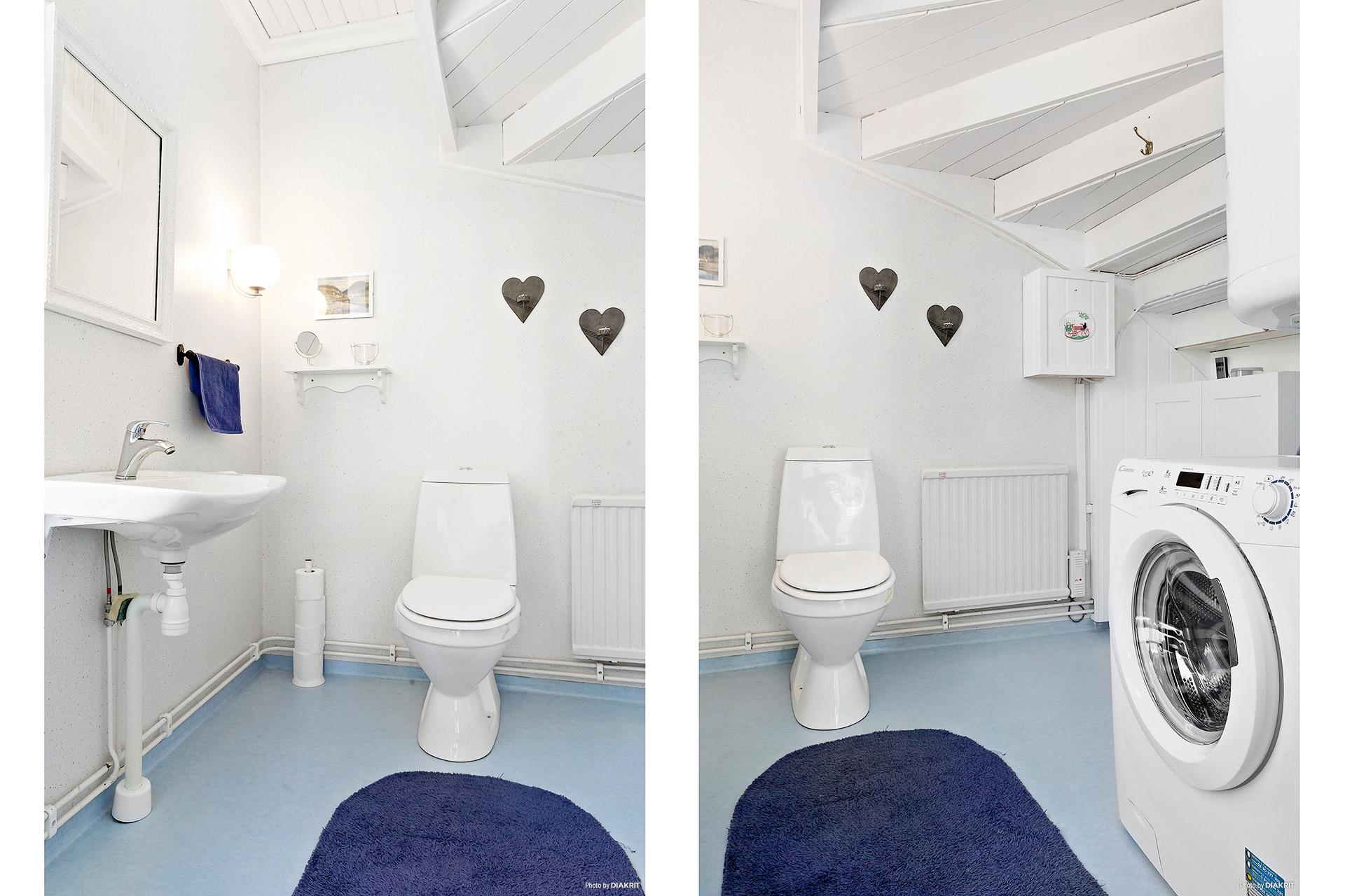 Stort wc-rum på entréplan.