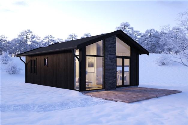 Två lägenheter om 40 m² i två fristående byggnader