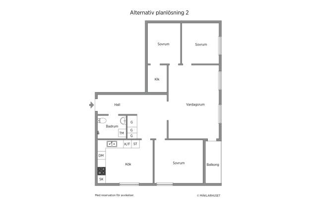 Alternativ planlösning 2