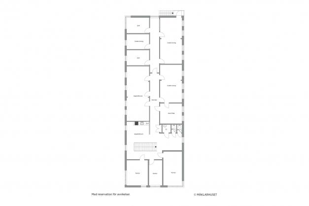 Planritning kontor övervåning