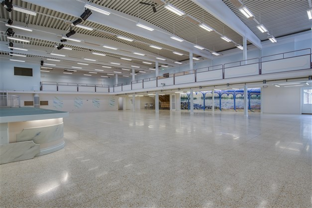 Stora hallen/ tex  kongresshall för ca 750 personer.
