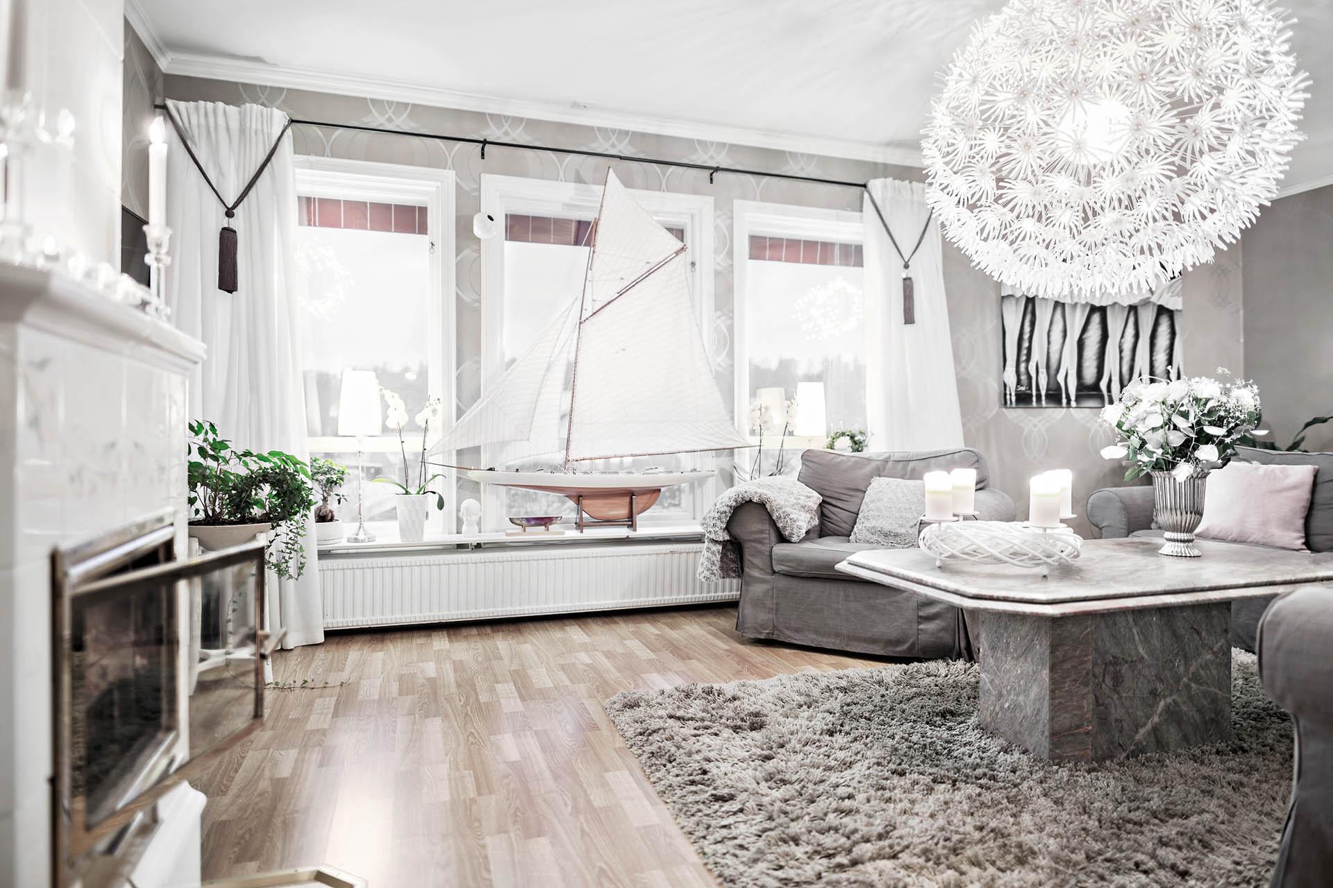 Vardagsrum, entréplan