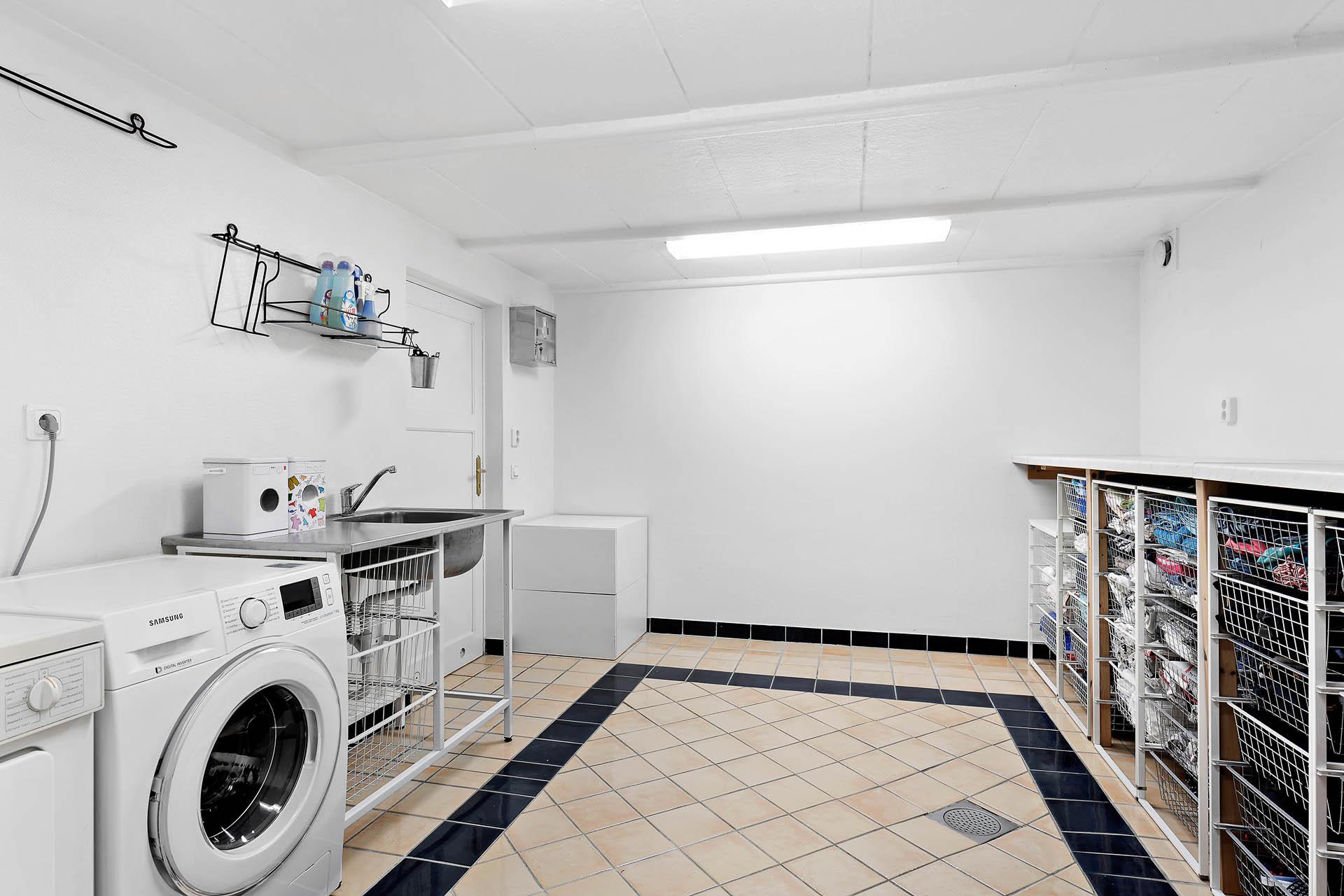 Tvättstuga, sutterängplan