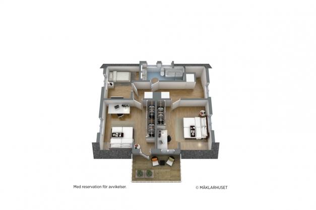 PLANLÖSNING 3D - Övervåning