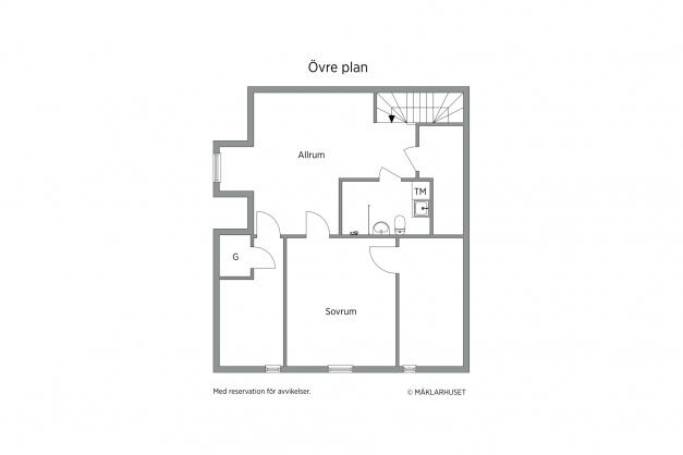 Lägenheten, övre plan.