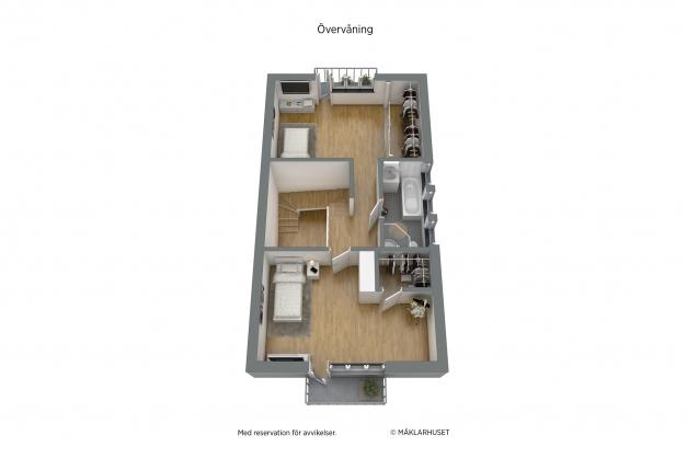 Möbleringsförslag övre plan