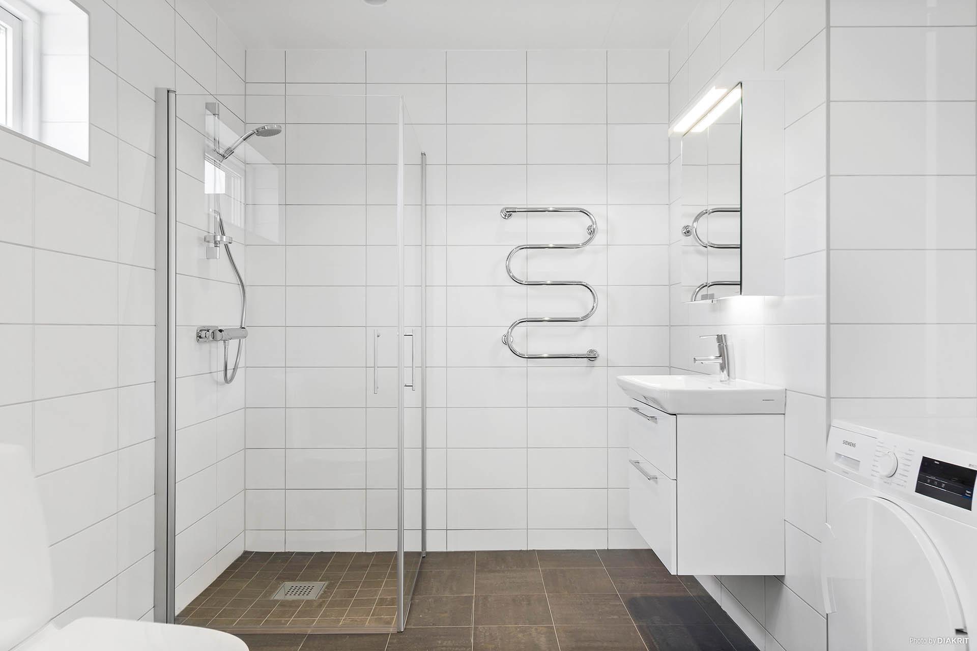 Helkaklat badrum.