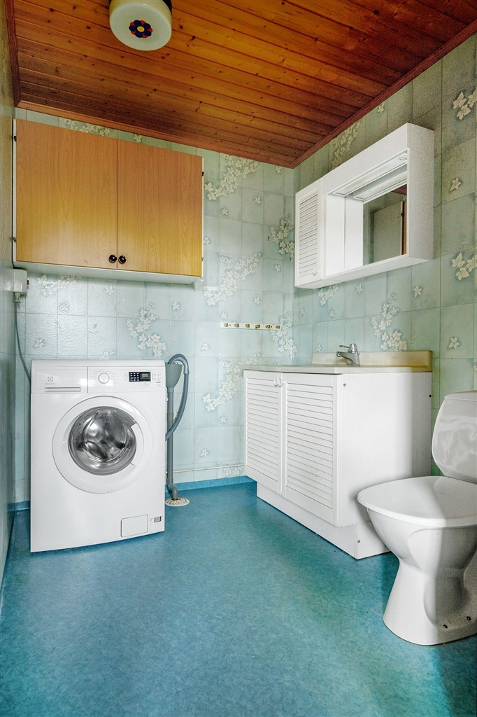 Wc med tvättmaskin