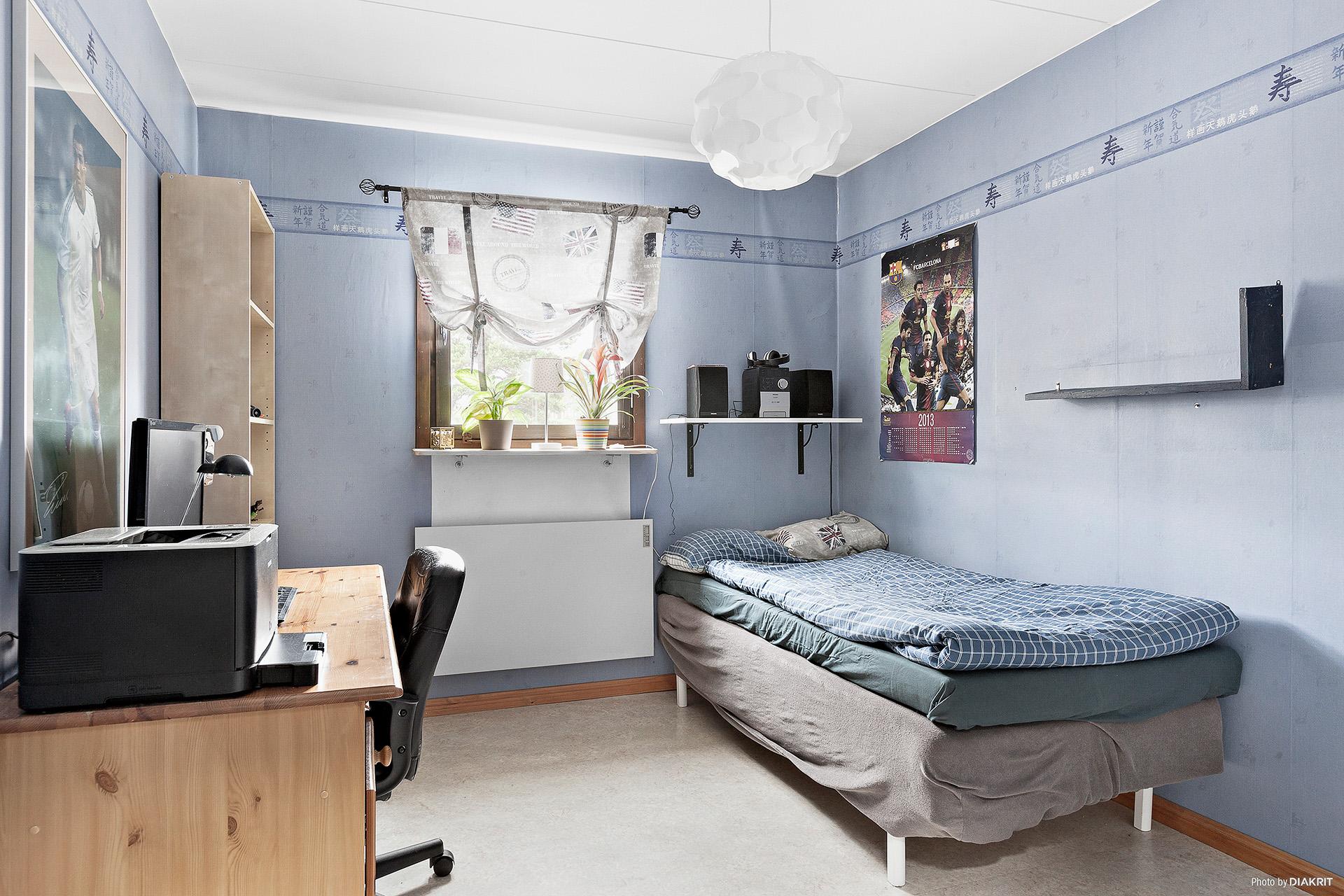 Sovrum på översta våningen