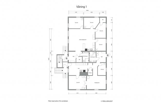 Planritning 2-d våning 1