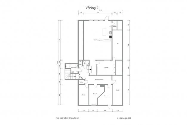 Planritning 2-d våning 2