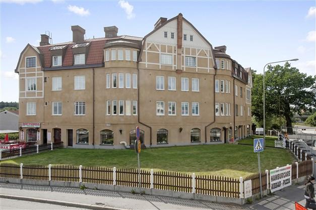 Det vackra Leipzig-huset i korsningen Gamla Huddingevägen/Turingevägen