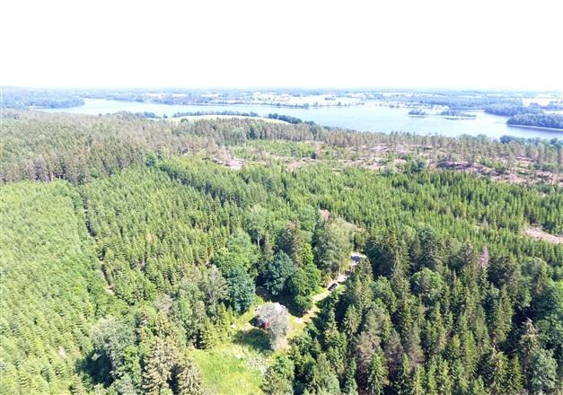 Översiktsbild mot Örsjön med Torpen längst ned i bild