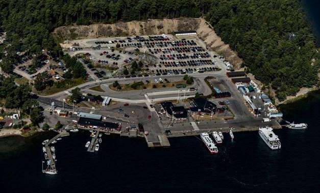 Vinterhamn med båtar till Skärgården