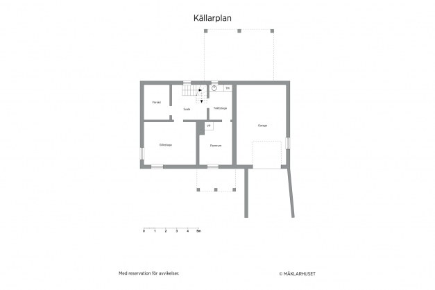 Planritning källare (avvikelser kan förekomma. Skalenlighet kan ej garanteras)