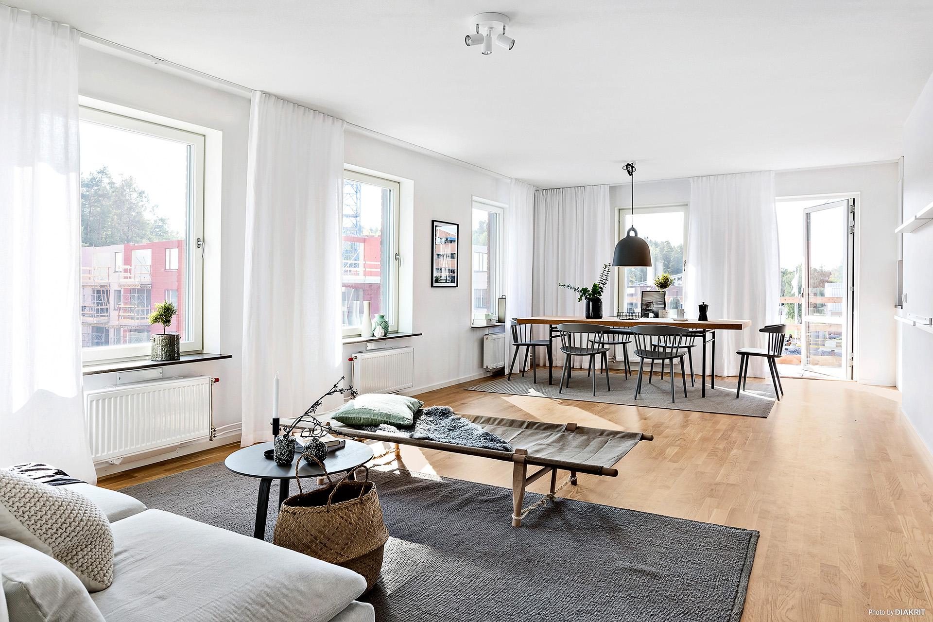 Visningslägenheten. Den här lägenheten är ej den som  är till salu.