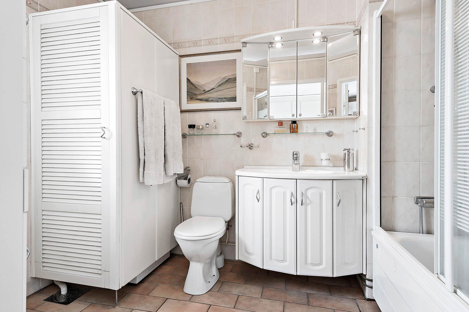 Badrummet med tvättdel