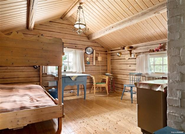 Sovrumsdel med våningsäng.