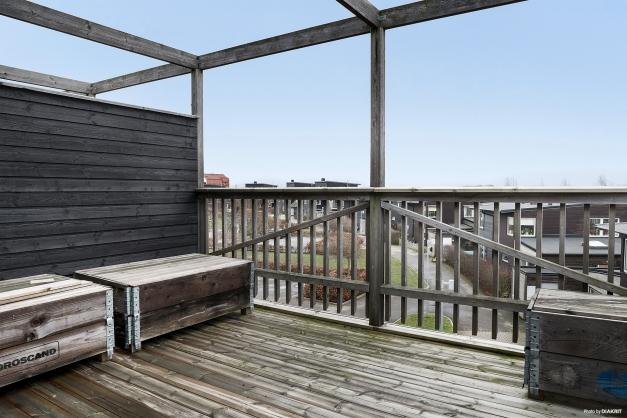 Extra plus för de stora balkongerna där man kan skapa sig riktigt sköna utemiljöer