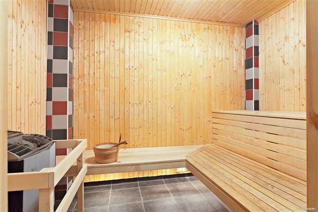 Föreningens bastu med dusch & relax.