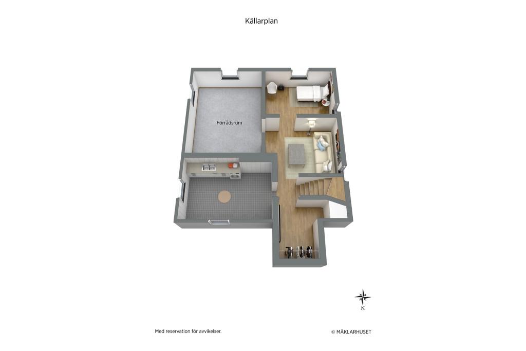 Planritning 3-d källare
