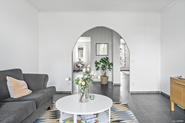 Ljust luftigt vardagsrum