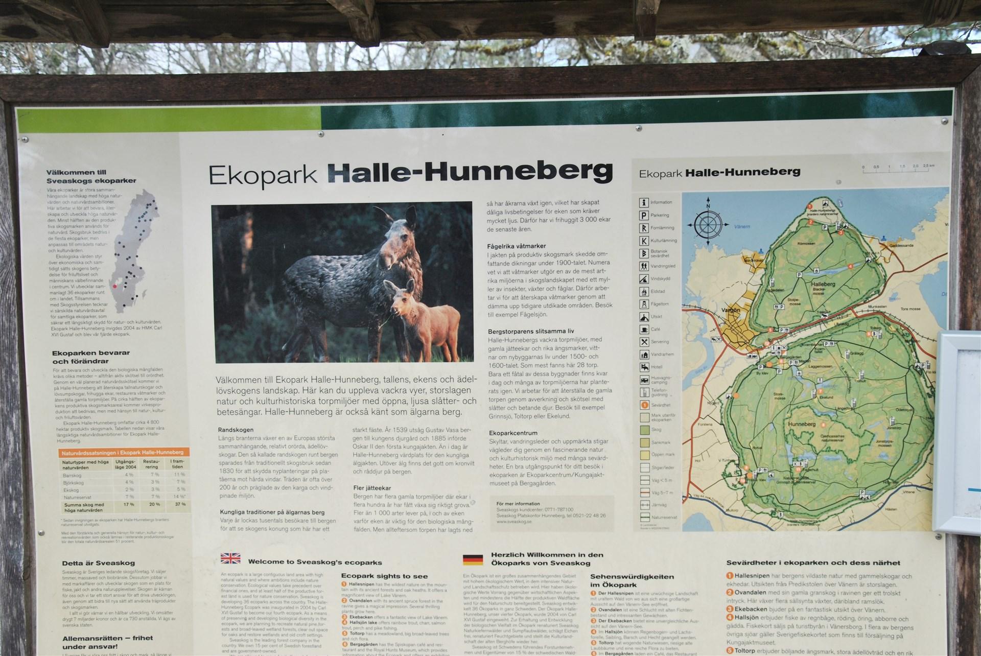 Halle- och Hunneberg erbjuder fina strövområden och flera utflyktsmål
