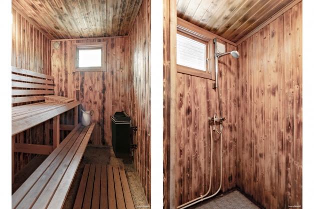Bastu och dusch i gästhus
