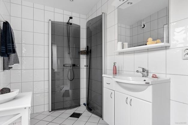 Det finns även dusch