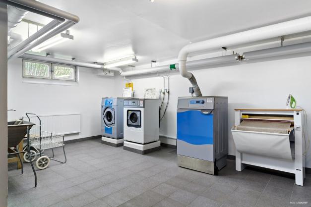 En av föreningens två tvättstugor