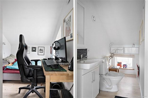 Sovrum och badrum övre plan