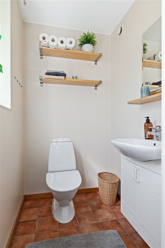 Lägenhet/personalutrymme verkstad Toalettrum
