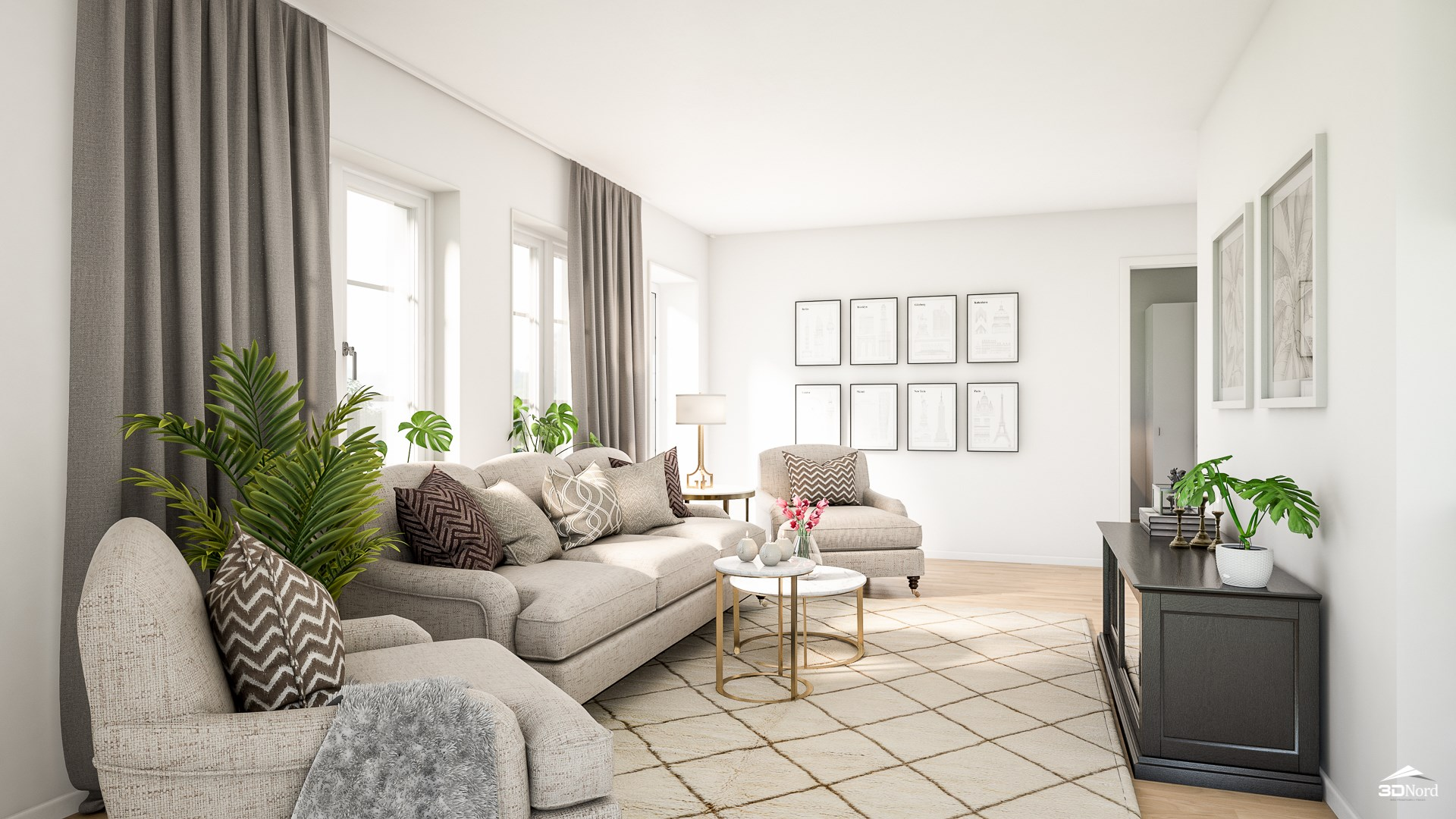 Vardagsrum i en 2:a Bilderna är illustrationer och att avvikelser kan förekomma.