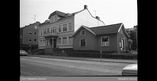Trädgårdsgatan förr Foto: Falbygdens museum