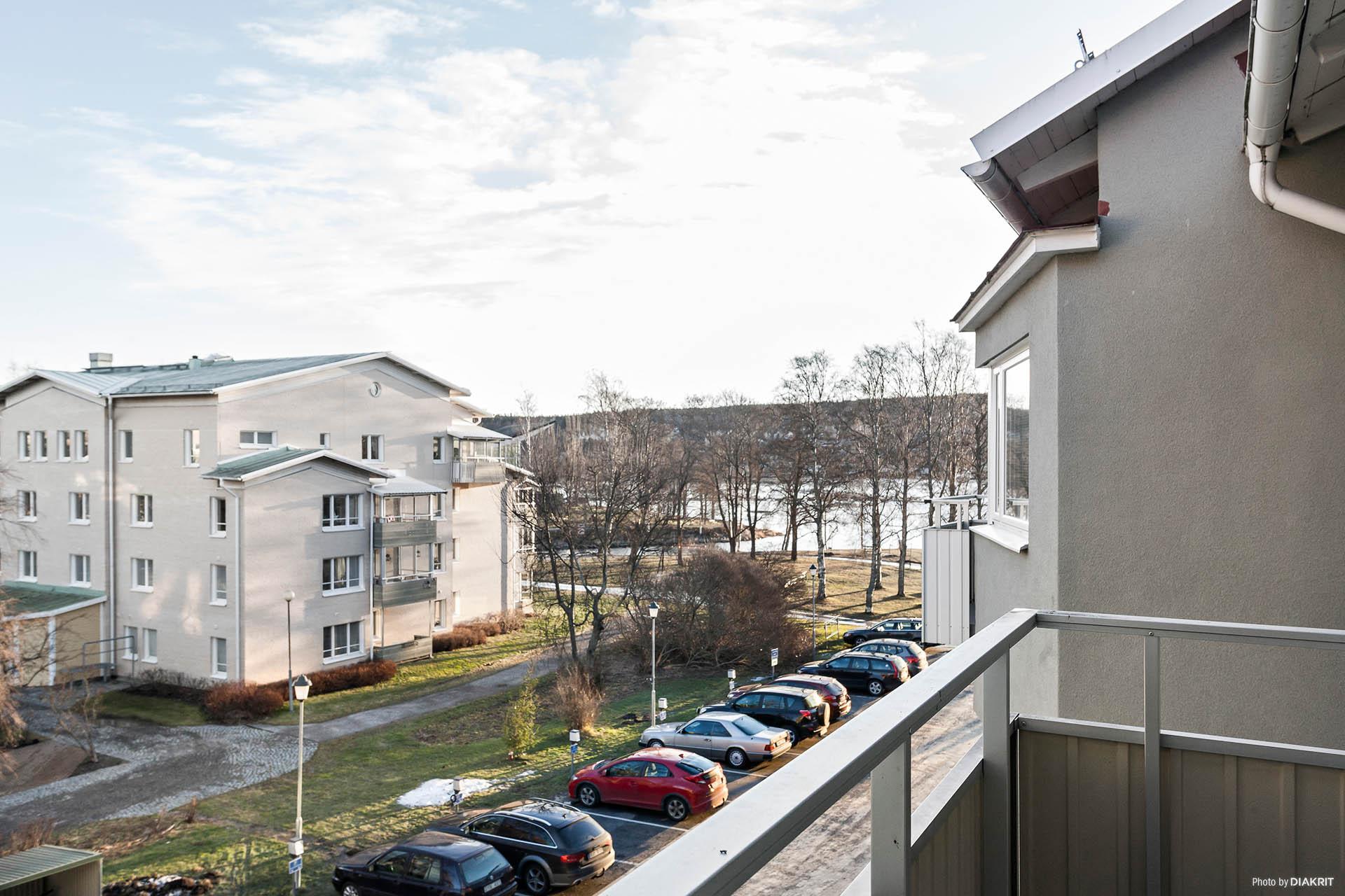 Utsikten från balkongen mot Södra Sundet