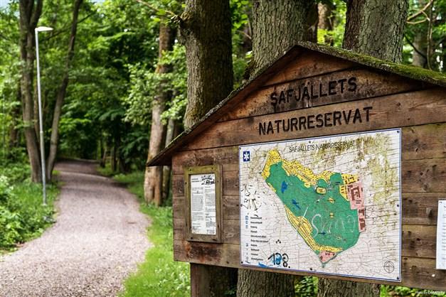 SAFJÄLLET - Populärt naturreservat med vandringsstigar, utegym, grillplatser, fotbollsplaner och brännbollsplan samt skidspår och skridskotjärnar på vintern.