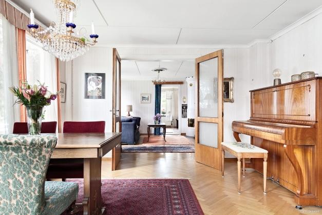 Tre eleganta vardagsrum med lyxig känsla från sekelskiftet.