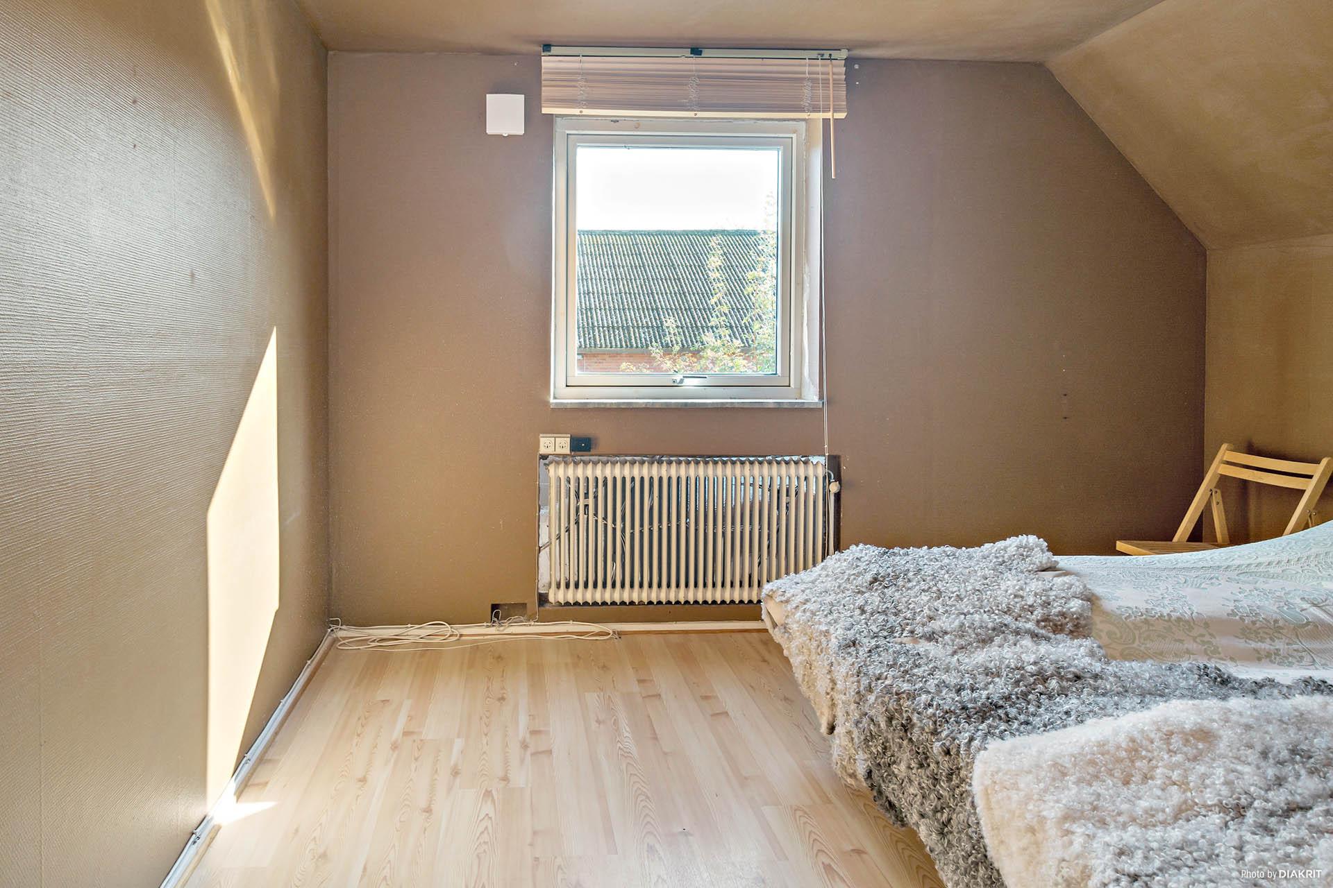 Ett av rummen på ovanvåningen.