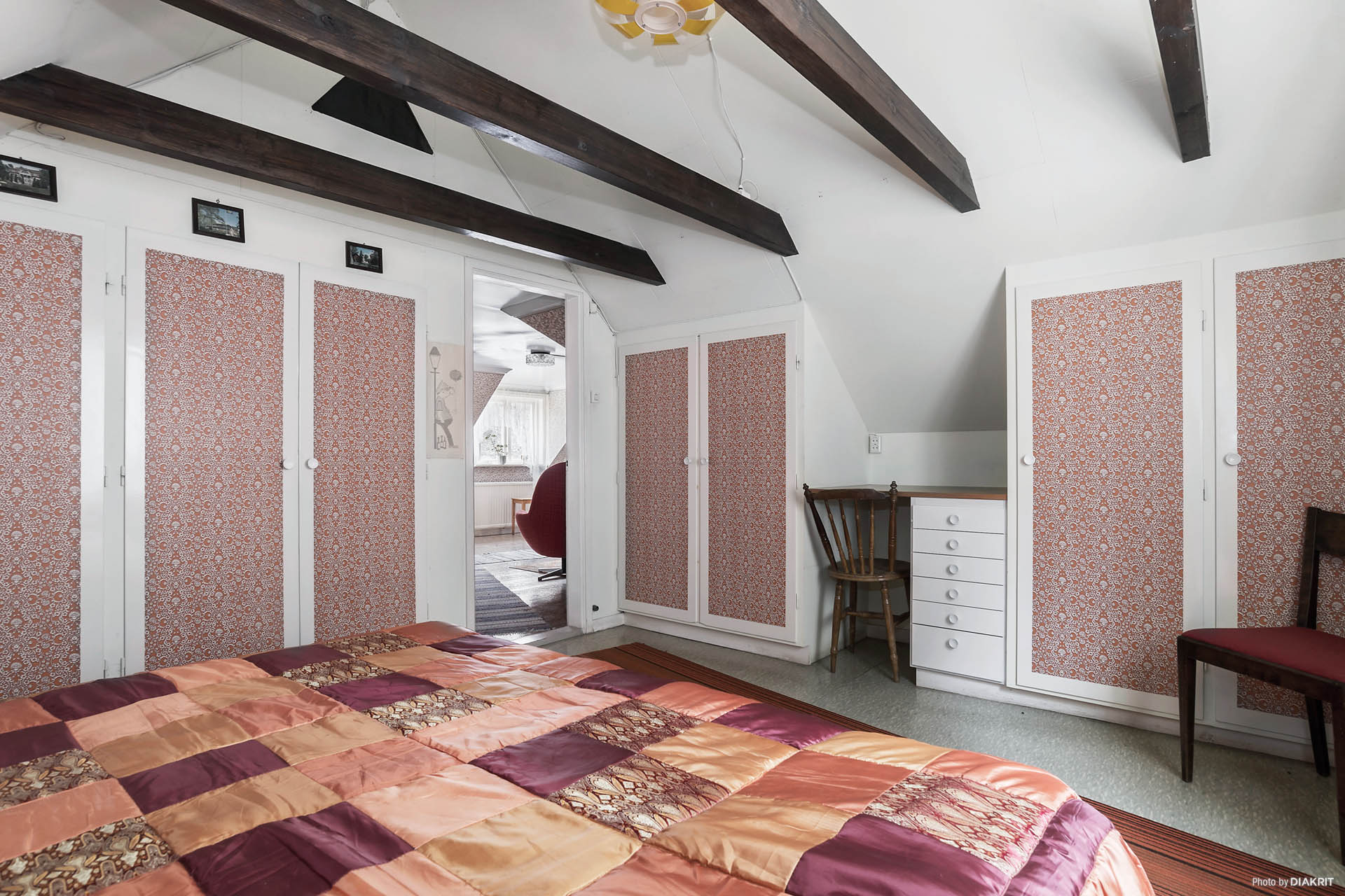 Stora sovrummet på övervåningen