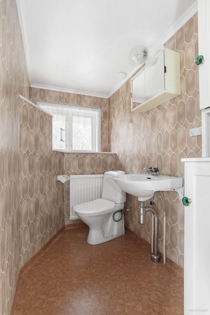 Toalett på övervåningen
