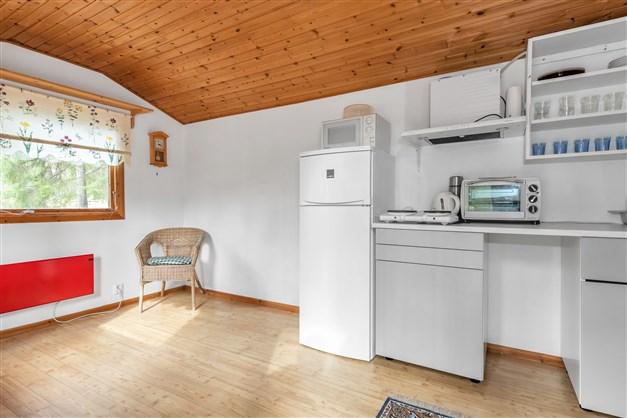 Vardagsrummet kombinerat med kök