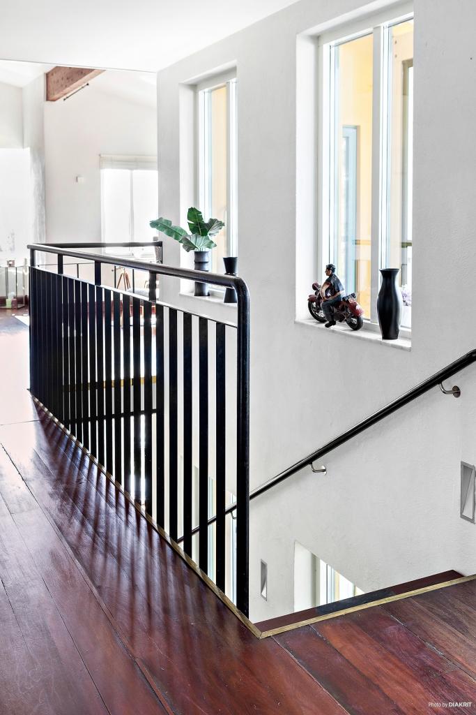 Trapp på övervåningen.