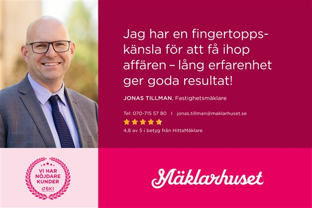 Jonas Tillman, ansvarig mäklare