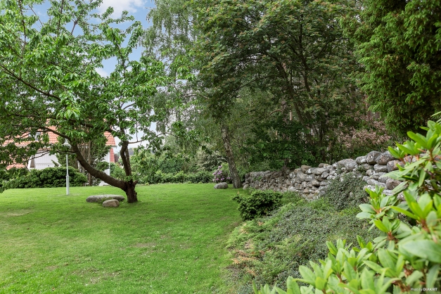 Trädgården angränsar till naturområde